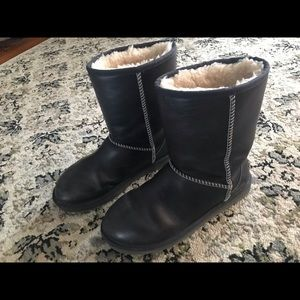 Navy Blue Leather Uggs women's size 9